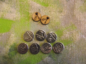 The Roman victory medals and spare ammo markers